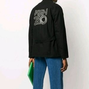 CLEARANCE - KENZO Embroidered Logo Buttoned Jacket